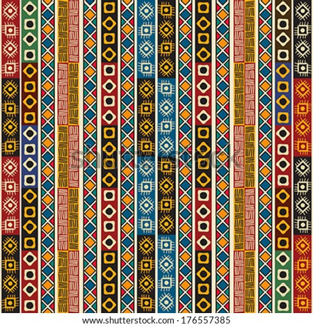 colorful ethno seamless pattern