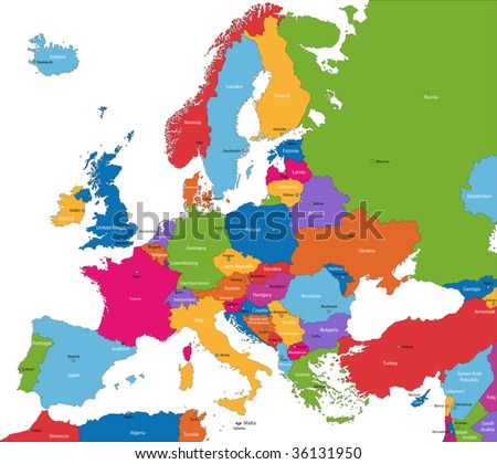 Europe Countries And Capitals Only