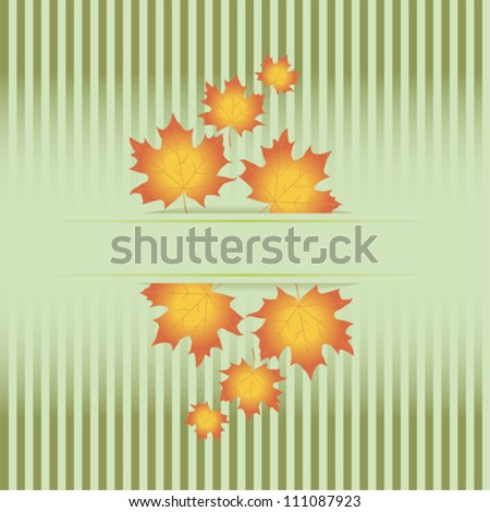 Colorful fall frame with leaves - stock vector