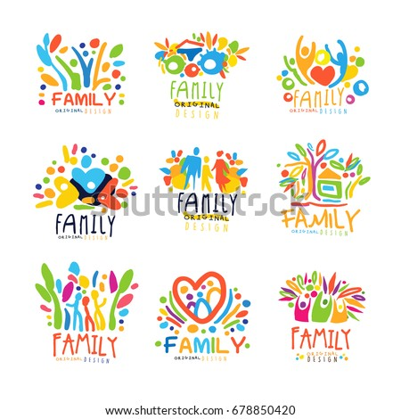 colorful family labels original