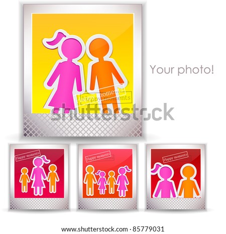 Colorful family photo