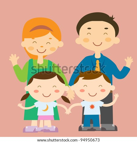 Colorful family vector