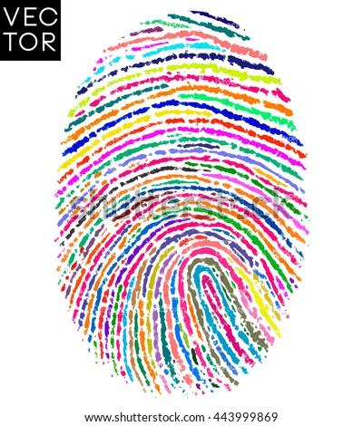 colorful fingerprint  finger