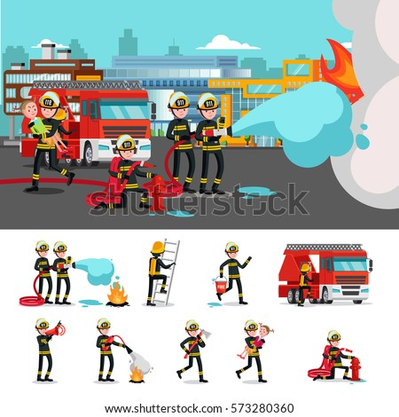 colorful firefighting