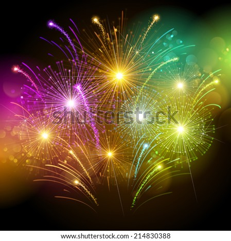 Shutterstock Colorful fireworks