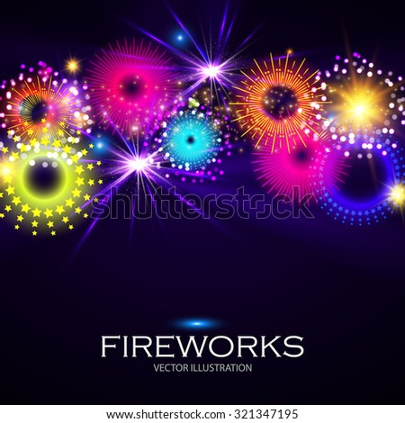 colorful fireworks holiday