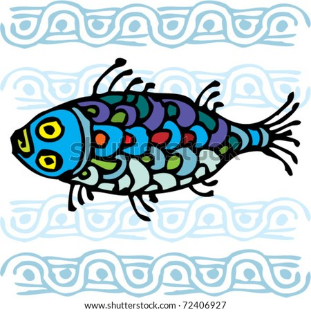 colorful fish ornament