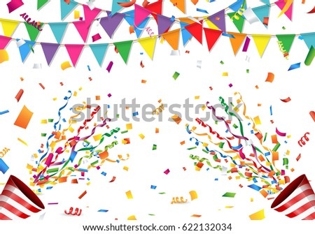{GAME START} STARGAZERS - Página 23 Stock-vector-colorful-flag-confetti-and-party-popper-on-white-background-622132034