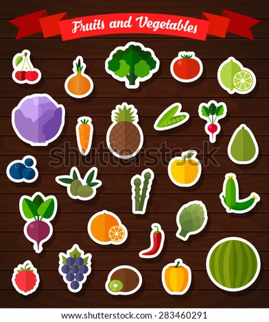 colorful flat fruits and