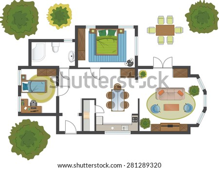 Free Floorplan A House Vector Download Free Vector Art Stock