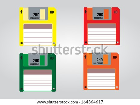 Colorful Floppy Colorful Floppy Disk Icon