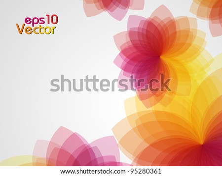 colorful floral abstract background. Vector illustration. - stock vector