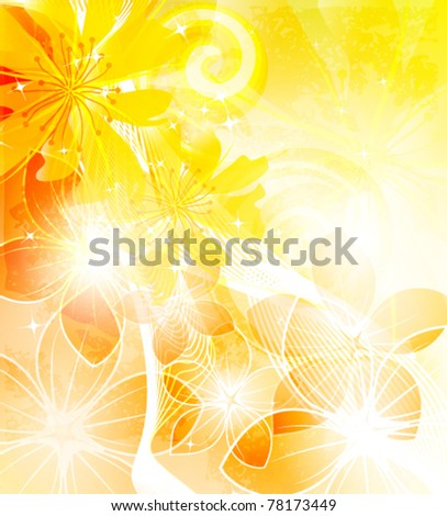 colorful floral background, vector illustration