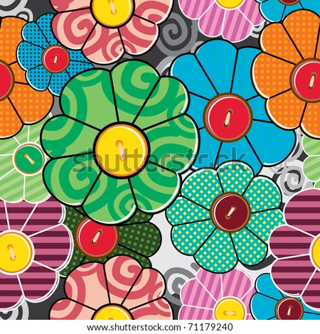 Colorful floral seamless - pattern