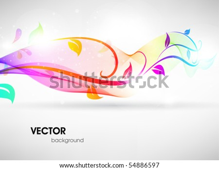 Colorful floral summer surface. Vector abstract background