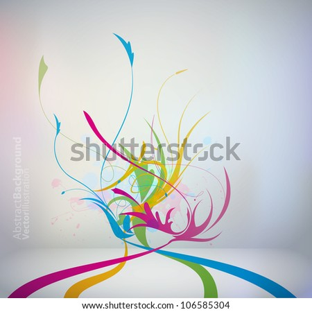colorful floral template