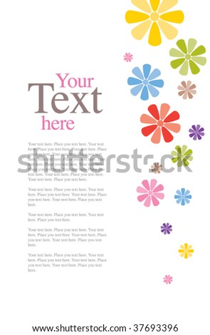 Colorful Flower Invitation Template