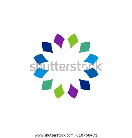 Colorful Flower Logo Template