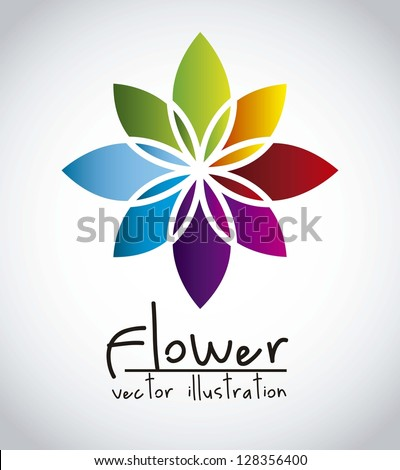colorful flower over gray