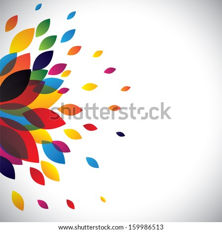 colorful flower petals of a