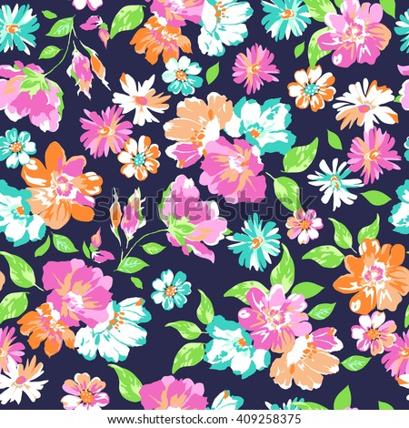 colorful flower print