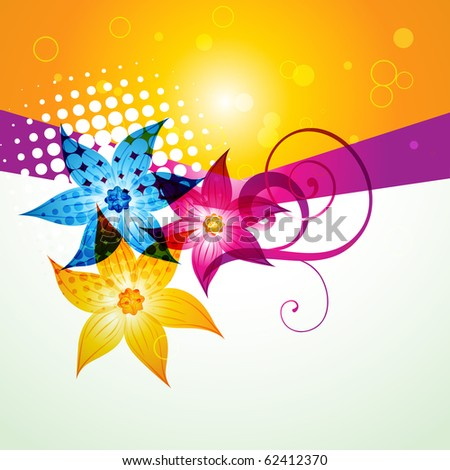 colorful flower style background. Eps10 vector file