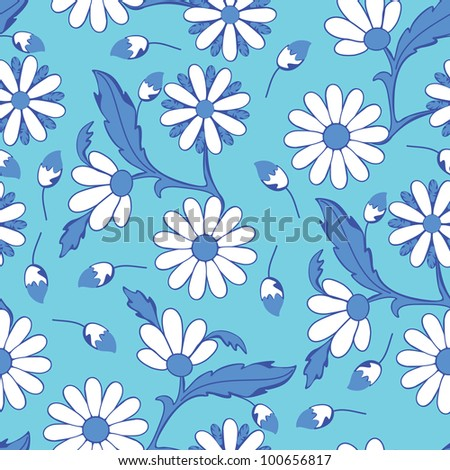 Colorful flowers - seamless pattern