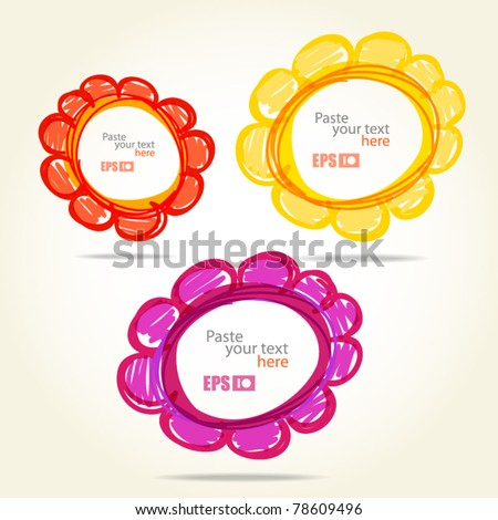 Colorful flowers. Template for any text