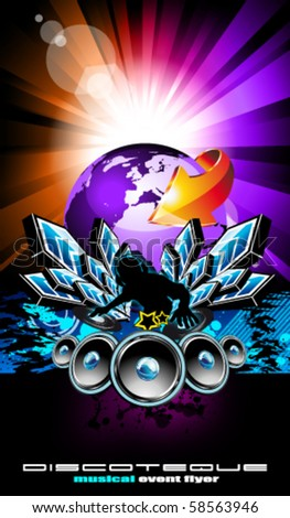 Colorful Flyer for International Disco Music Event