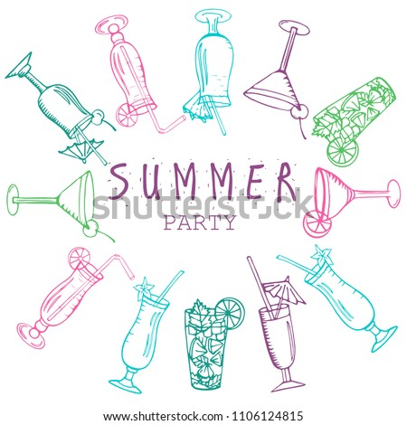 colorful flyer for summer party