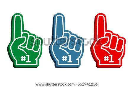 colorful foam fingers vector