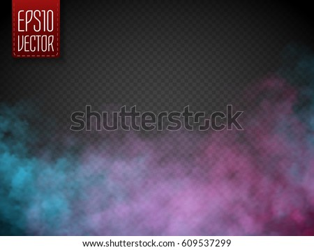 colorful fog or smoke isolated