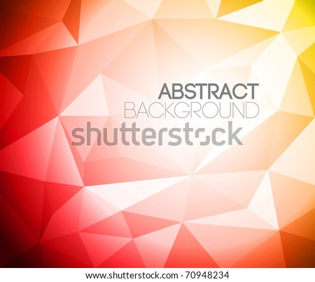 Colorful folded paper background - yellow and red