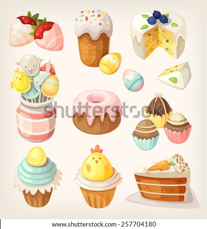 colorful food for easter party
