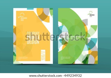 modern green flyer design leaflet annual report a4 cover download