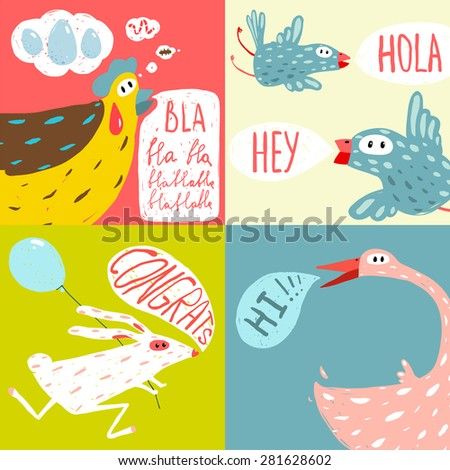 colorful fun cartoon domestic