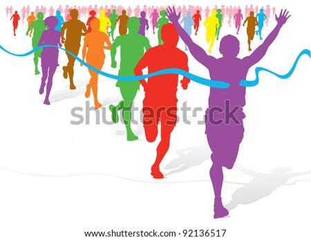 colorful fun run
