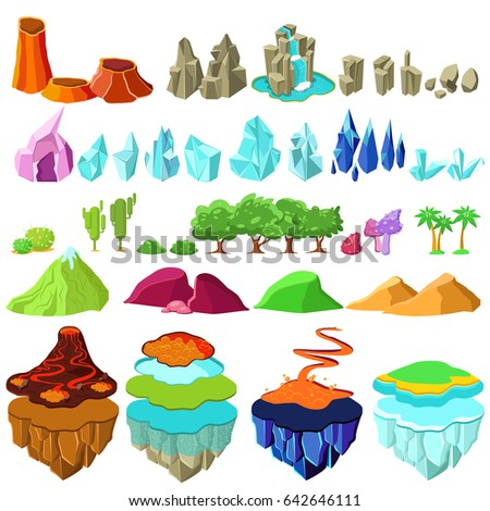 colorful game islands landscape