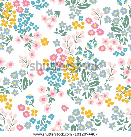 colorful garden flowers on