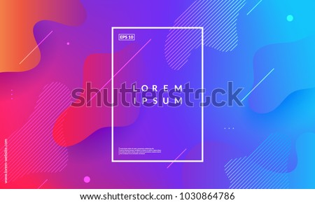 Colorful geometric background. Fluid shapes composition. Eps10 vector. - Shutterstock ID 1030864786