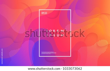 Colorful geometric background. Fluid shapes composition. Eps10 vector. - Shutterstock ID 1033073062