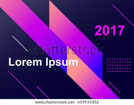 Colorful geometric background. Fluid shapes composition. Eps10 vector. - Vector