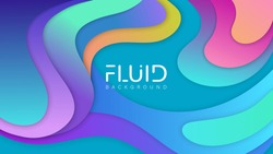 Colorful geometric background. Fluid shapes composition. Vector EPS 10.
