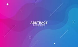 Colorful geometric background. Liquid color background design. Fluid shapes composition. Eps10 vector.