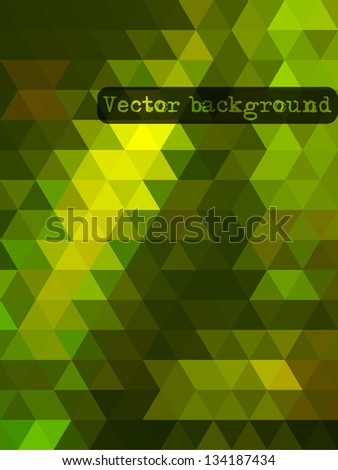 Colorful geometric background with triangles. Vector EPS10.
