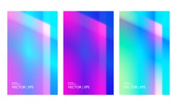 Colorful geometric gradient backdrop. Vivid background with light reflex and shine. Strips isolated in circle shape. Aurora effect. Neon colors for screen, wallpaper and web design.