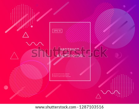 Colorful geometric pink background. Fluid shapes composition. Eps10 vector. #1287103516