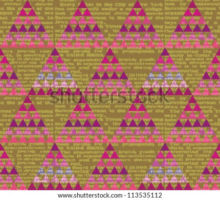 Colorful geometric seamless pattern with triangle. Vector illustration - stock vector