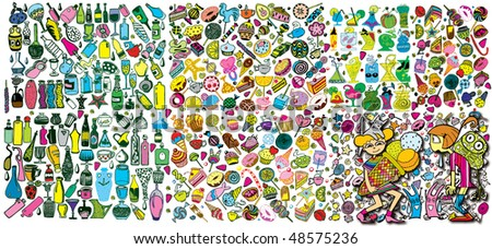 Colorful Giant Party Collection (vector)
