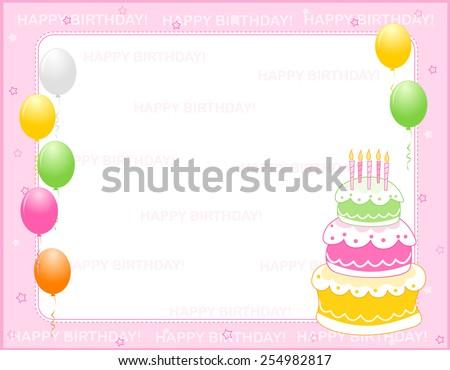 colorful girly birthday card